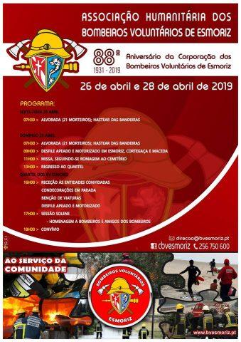 Cartaz 88 Aniversario Bombeirios